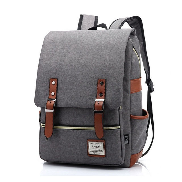 2a762bc2201f Vintage Women Canvas Daily Backpack Teenager Girls Boys Fashion School Bags  Student Campus Mochila Unique Men