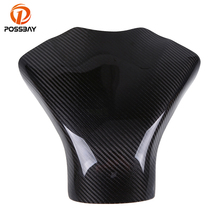 POSSBAY Motorcycle Carbon Fiber Gas Tank Pad Cover Cafe Racer For Suzuki GSXR 600 750 2008 2009 2010 K8