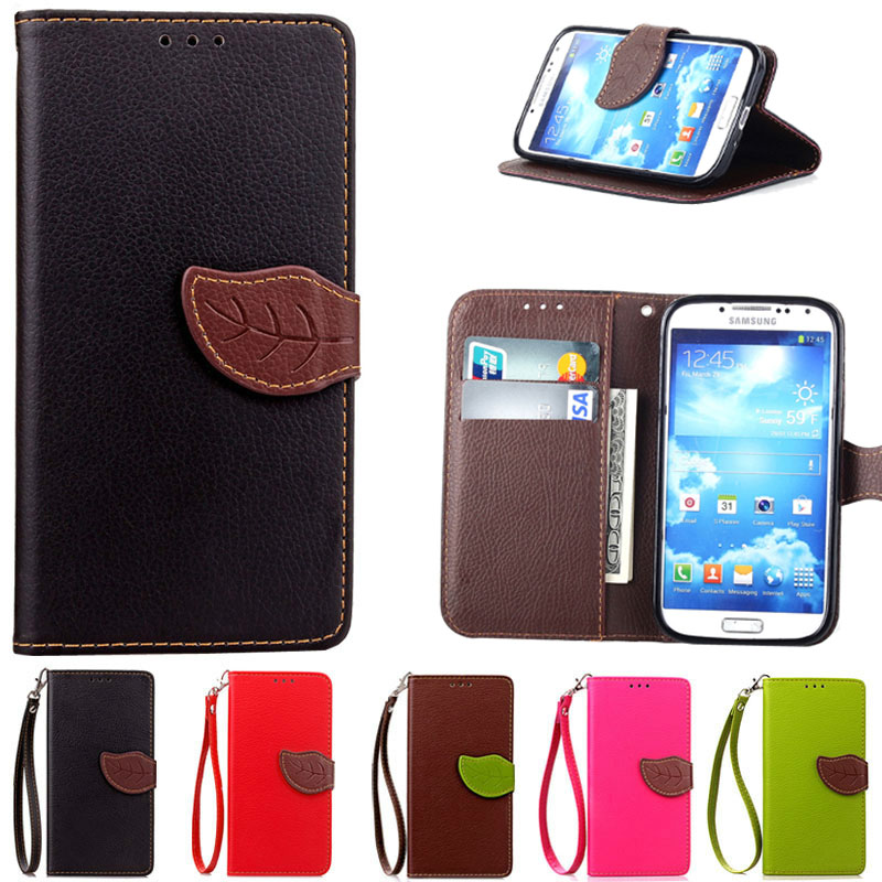 For Coque Samsung S4 Case Luxury Wallet Phone Bag Cover For Samsung Galaxy S4 i9500 Stand Flip Case With Card Slot Holder