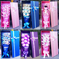 Hot Selling Cartoon  Festivals Gift Bouquet For Valentine's Day / Birthday / Wedding /Graduation  With Pretty Gift Box