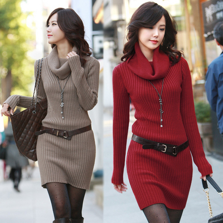 2014 autumn winter new women 39 s turtleneck sweater dress thickening pullover long sleeve large. Black Bedroom Furniture Sets. Home Design Ideas