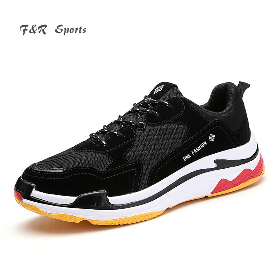 F&R 2018 New Luxury Brand Men Sports Running Shoes Spring Sneakers Summer Outdoor Street Balanciaga Vogue Trend Shoes 39-44