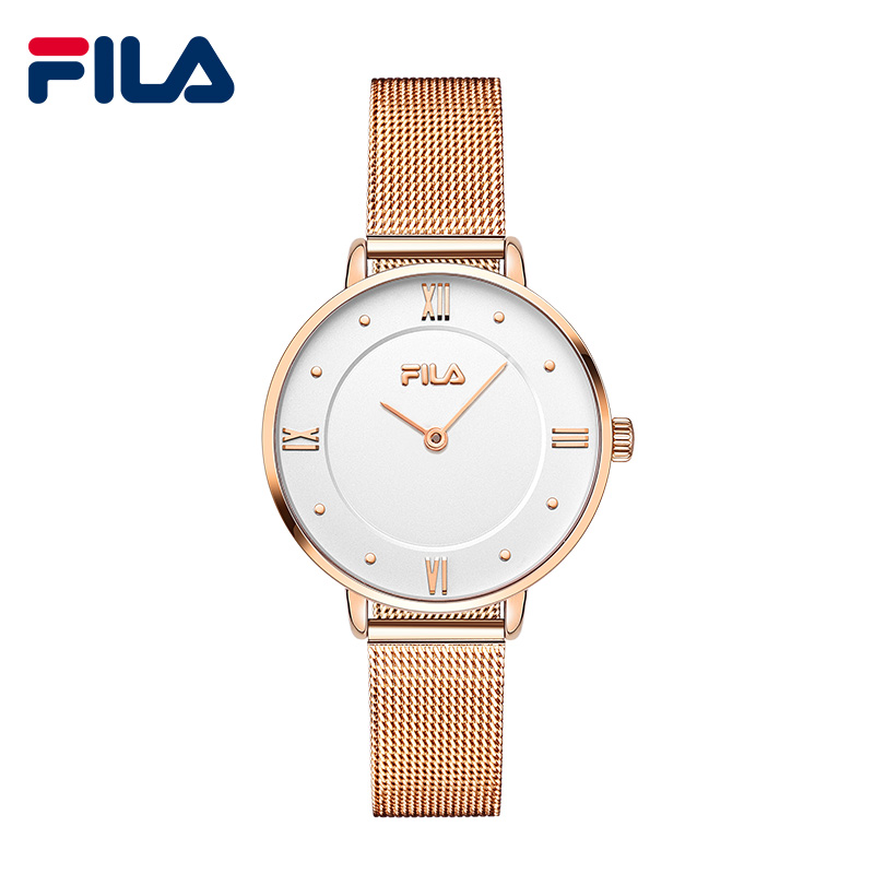 Fila top brand luxury ladies watches gold wrist watch women 39 s fashion stainless steel bracelet for Fila watches