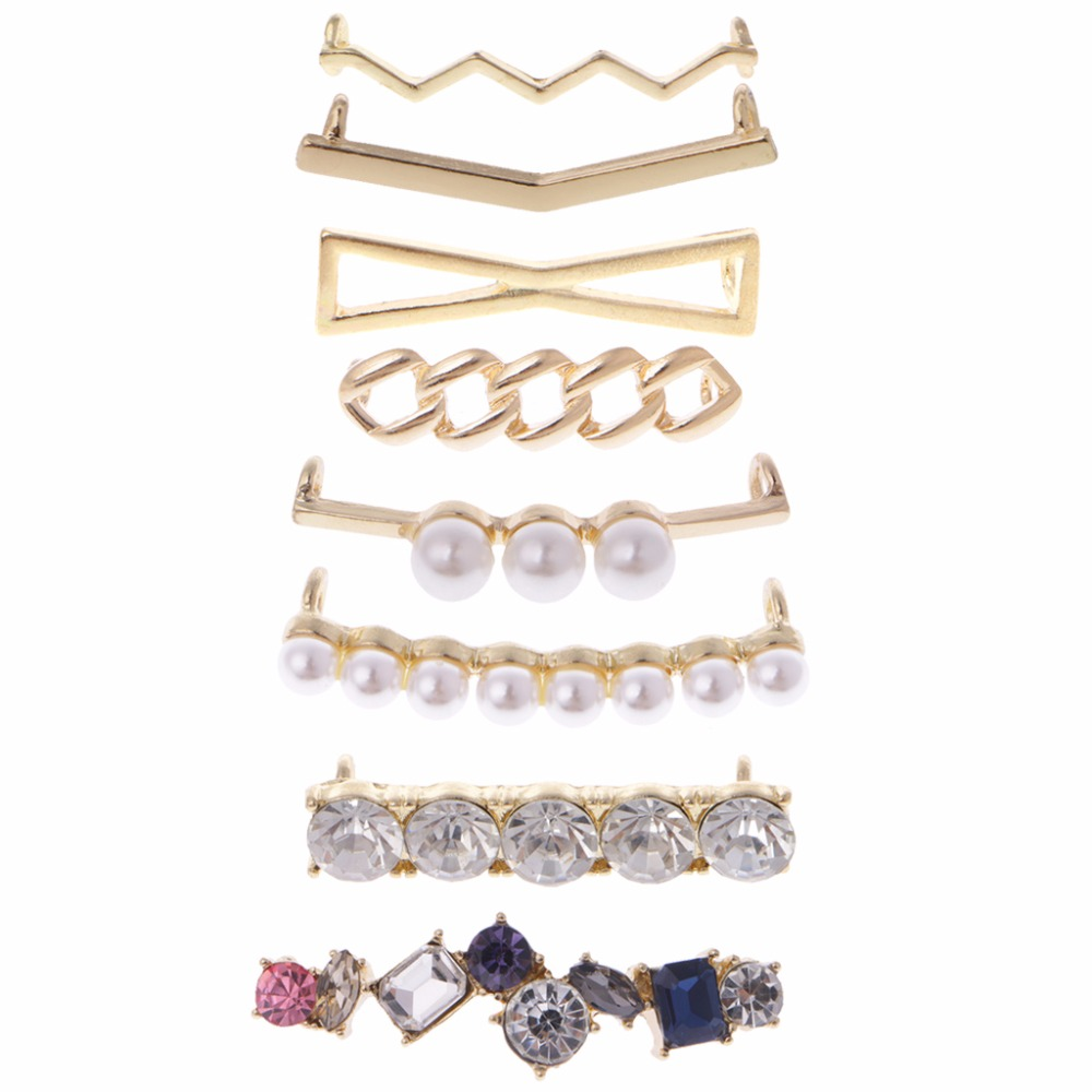 EYKOSI Shoelaces Clips Decorations Charms Faux Pearl Rhinestone Shoes Accessories Gifts Hot New