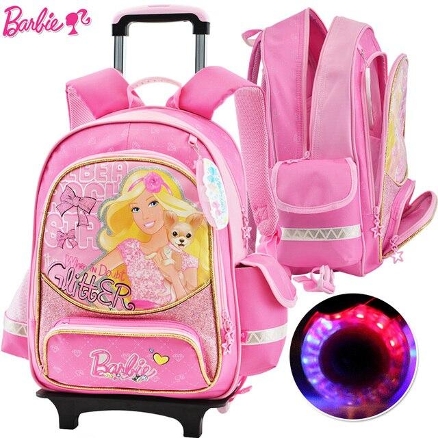 outlet store sale buy good the sale of shoes Barbie cartoon trolley/ruote per bambini/bambini safety libri sacchetto di  scuola di rolling backpack con staccabile per le ragazze di grado 3 6 in ...