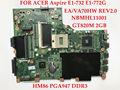 Placa base de alta calidad para acer aspire e1-732 e1-772g nbmhl11001 ea/va70hw rev2.0 pga947 hm86 gt820m ddr3 2 gb probado completamente