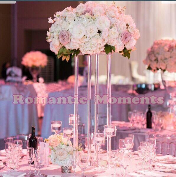 60cm Tall Wedding Acrylic Crystal Table Centerpiece Square Table