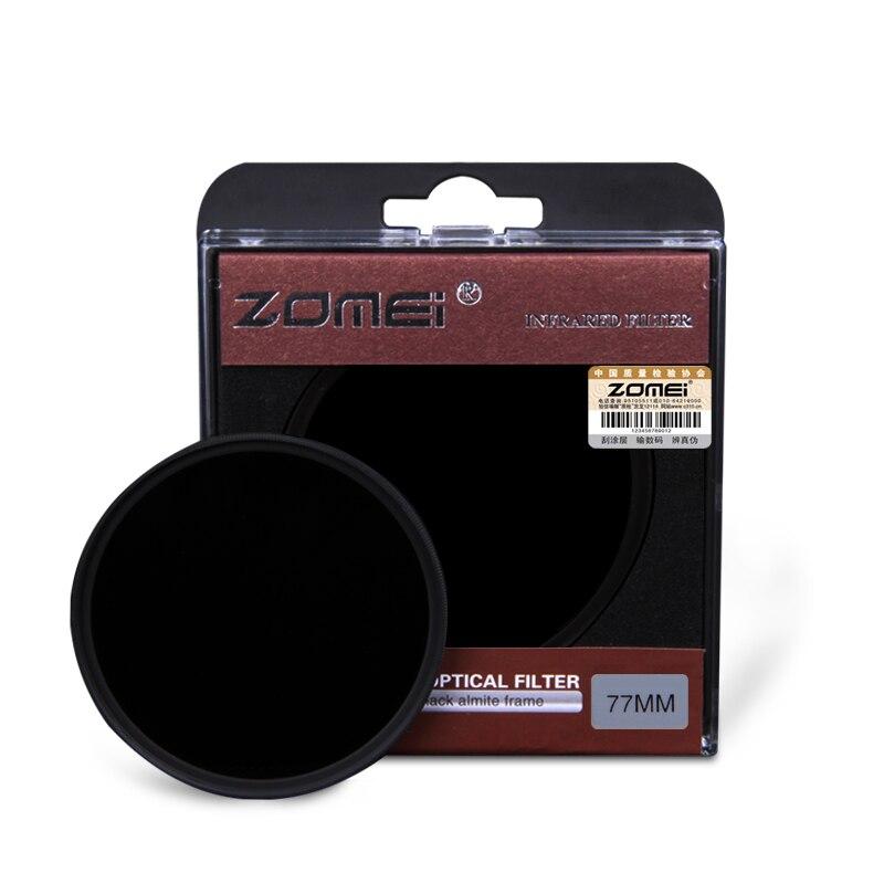 Filtre infrarouge de X-RAY infrarouge de miroir de ZOMEI 850NM pour le miroir argenté de lentille de DSLR cerclé 43/46/49/52/55/58/62/67/72/77mm