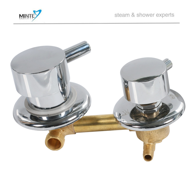 ФОТО 2 or 3 output brass shower room faucet shower mixer and diverter for shower cabin