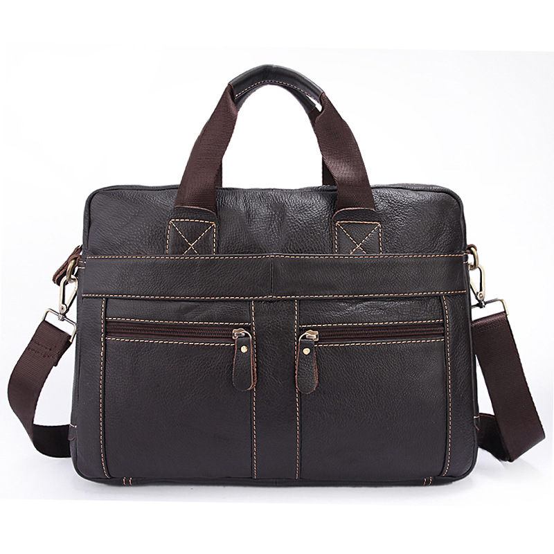 Factory direct business Soft Cow Leather male laptop briefcase casual fashion perfect three-dimensional design of mens handbagFactory direct business Soft Cow Leather male laptop briefcase casual fashion perfect three-dimensional design of mens handbag