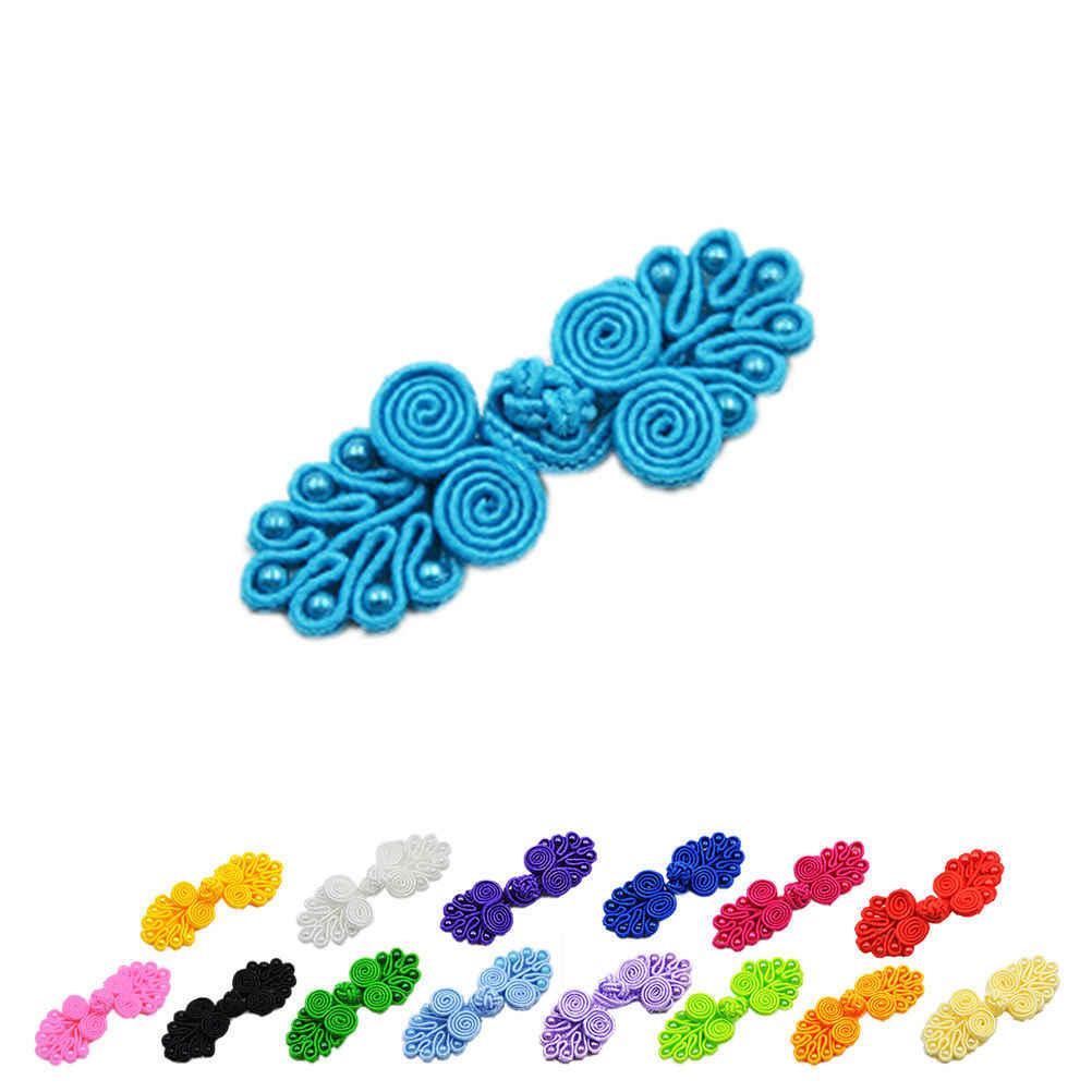 Yeni 4 adet/grup çin el yapımı kurbağa kapaklar girdap boncuk ile çince düğüm düğmesi düğmeler birçok renk