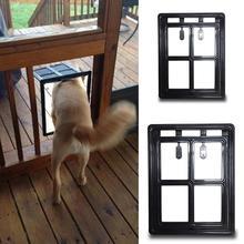 Запираемая пластиковая собака кот котенок дверь для экрана окна безопасности створки ворота пэт туннель собака забор свободный доступ дверь для дома