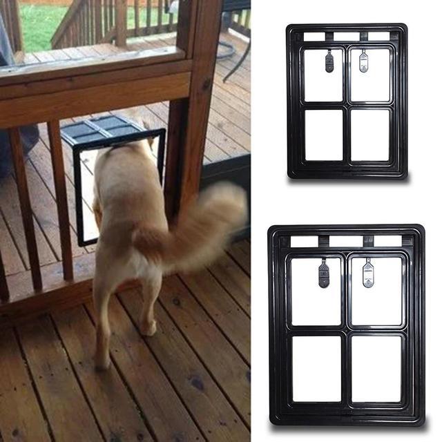 Pet Door Home Puppy Tunnel Plastic Security Flap Cat Dog Gates Fence Screen Window  Doors Pets