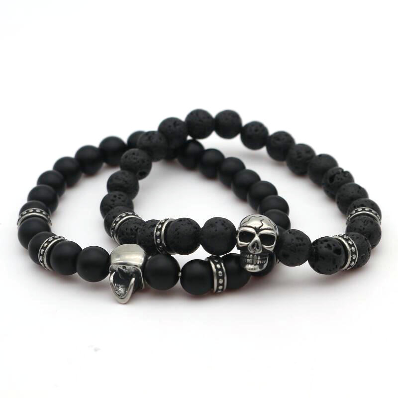 bracelet men beads ae aed xl stone women volcano rock en i buy item metal natural unisex beaded frosted for jewelry dumbbell