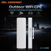 COMFAST 300 Mbps 802.11n WI-FI CPE ao ar livre WI-FI de longa distância transmissor e receptor CF-E314N ponte sem fio câmeras IP apoio