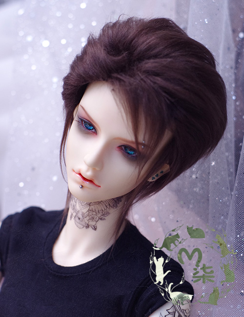 New 1/3 22-23cm 20-21cm 1/4 18~19cm 1/6 16-17cm BJD Wig Dark Brow Short Boy Fur Wig BJD SD MSD YOSD Doll Wig new 1 3 22 23cm 1 4 18 18 5cm bjd sd dod luts dollfie doll orange black short handsome wig