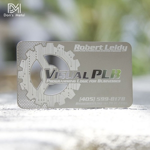 Image 2 - Hollow out  cut out stainless steel business card metal card design metal business card custom
