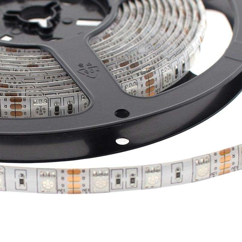 LED strip 5 meters 5050 led 24 volt batteries Fit 72 W 300lumens IP 65 Outer Multicolored RGB 255064