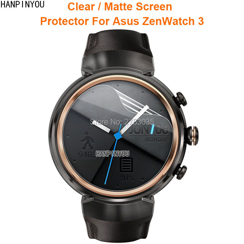 For Asus ZenWatch 3 SmartWatch Clear Glossy / Anti-Glare Matte Screen Protector Protective Film (Not Tempered Glass)