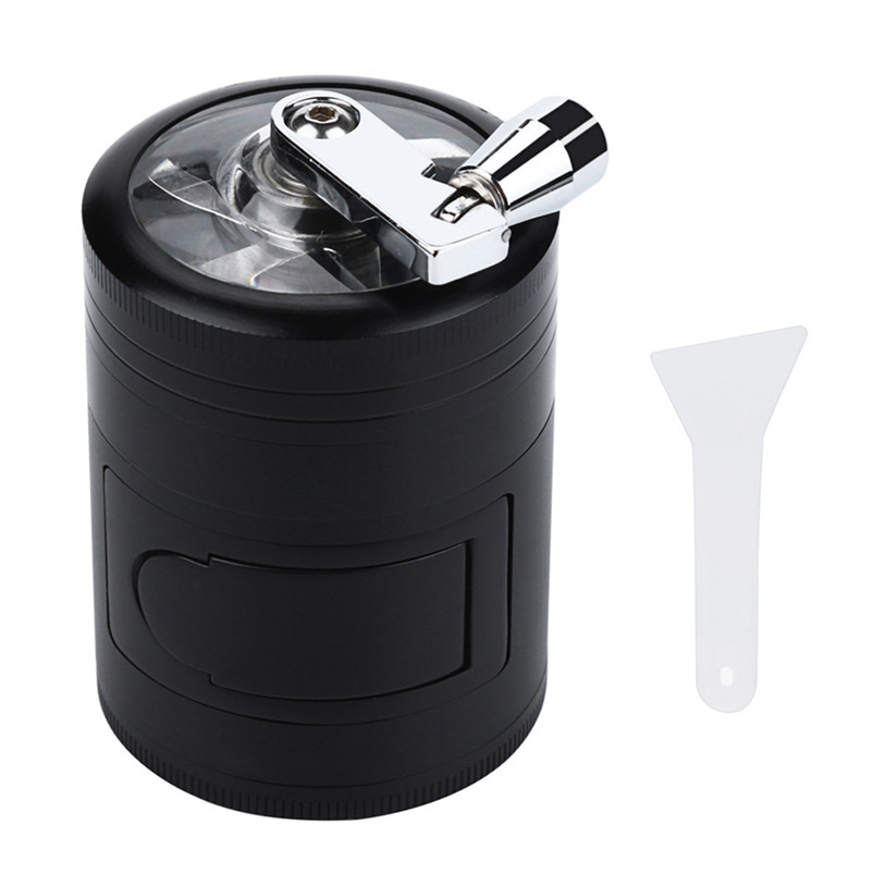 Hand Crank Crusher Tobacco Cutter Grinder Hand Muller Shredder Smoking Case 2017-2018 Hot Sale