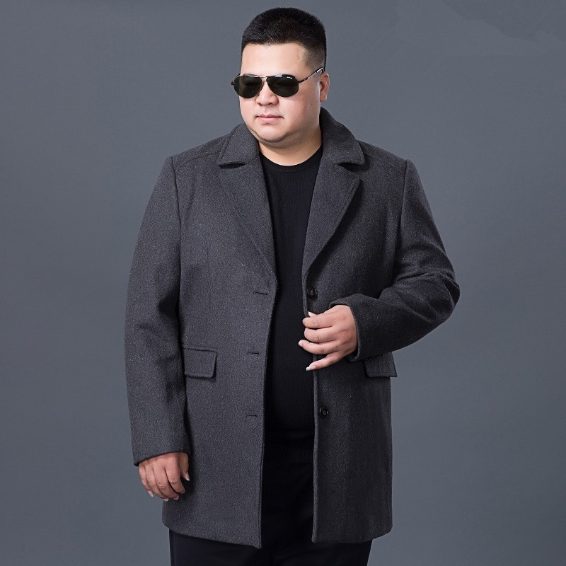 Pea Coat Jackets Plus-Size Casual Outerwear Warm Man 9xl Wool New10xl Slim-Fit Thickening