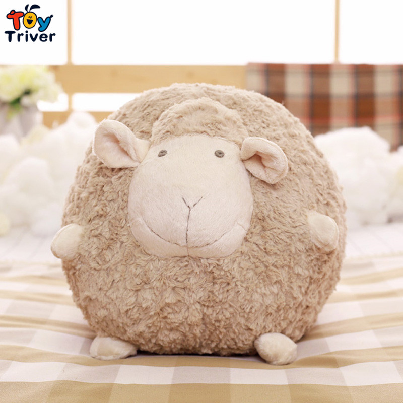 Cute Soft Plush Fat Sheep Ball Toy Stuffed Lamb Sleeping Sheep Doll Pillow Cushion Baby Kids Friend Girl Birthday Gift Triver pocket monster pokemon poke ball plush stuffed toy soft pillow 40cm