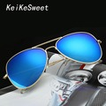 KeiKeSweet Hot Gold Designer Outdoor Mirror Aviation Ce Women Man 's Sun Glasses Rayed UV400 Reflective Ladies Pilot Sunglasses