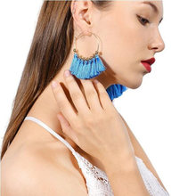 ZIVangela Fashion Bohemia Multilayer Color Tassels Earrings Women Accessories Handmade Fringed Earrings Ethnic Jewelry(China)