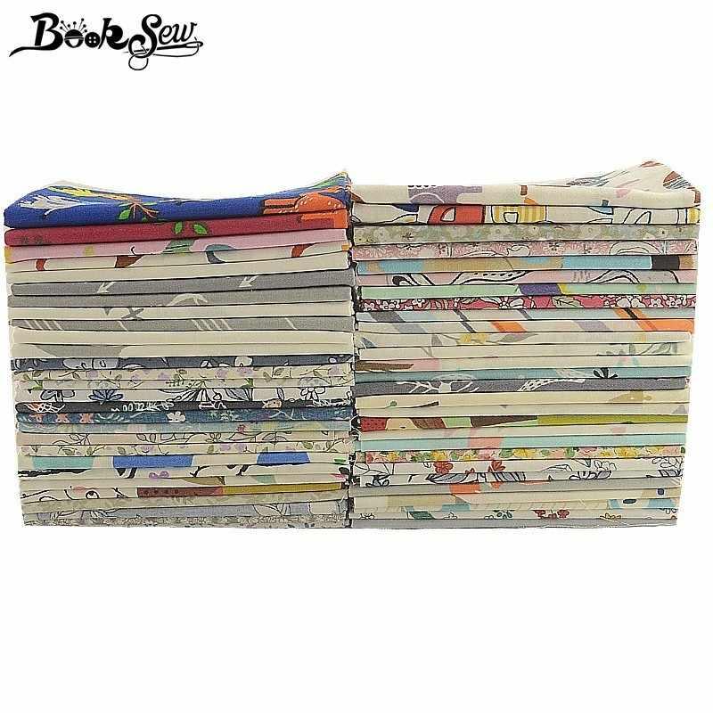 Booksew 40 × 50 センチメートル綿 100% 生地 Telas Tissu 漫画動物花シリーズアンカラ生地枕キルト DIY パッチワークベビーキッズ