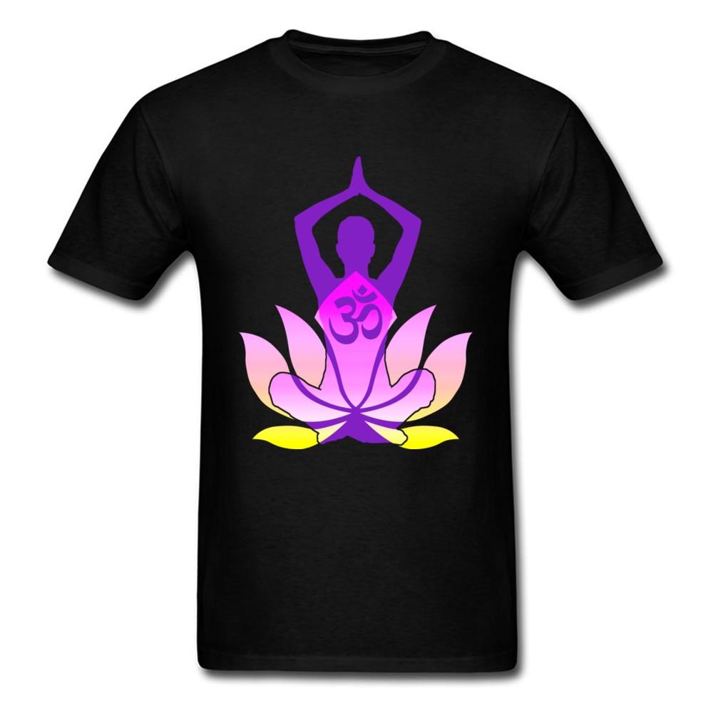 Hot Sale Indian Om Tshirt Namaste Lotus Flower Spirit T Shirt For