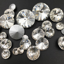 White Pointback Round Glass Crystal Rhinestones Satellite Clear DIY Headpiece Jewelry/Phone DIY/Clothing Accessories