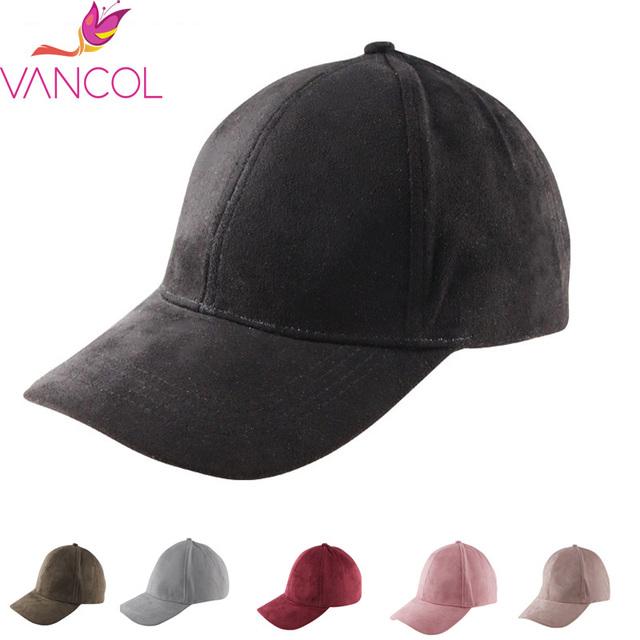 Vancol chapéus para homens 2016 moda atacado marca rua Hip Hop do boné de beisebol de couro falso camurça esportes Hat Black Grey Cap homens