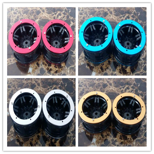 4PCS/bag 2.2 inch Beadlock Wheel Rim Hubs for 1/10 RC Monster truck Rock Crawler rr10 r1 scx10 rc4wd Axial SCX10 YETI TF2 4pcs rc crawler truck 1 9 inch rubber tires