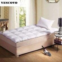 Colchón plegable de algodón para dormir sano, plumas de ganso, para las cuatro estaciones, seco y transpirable