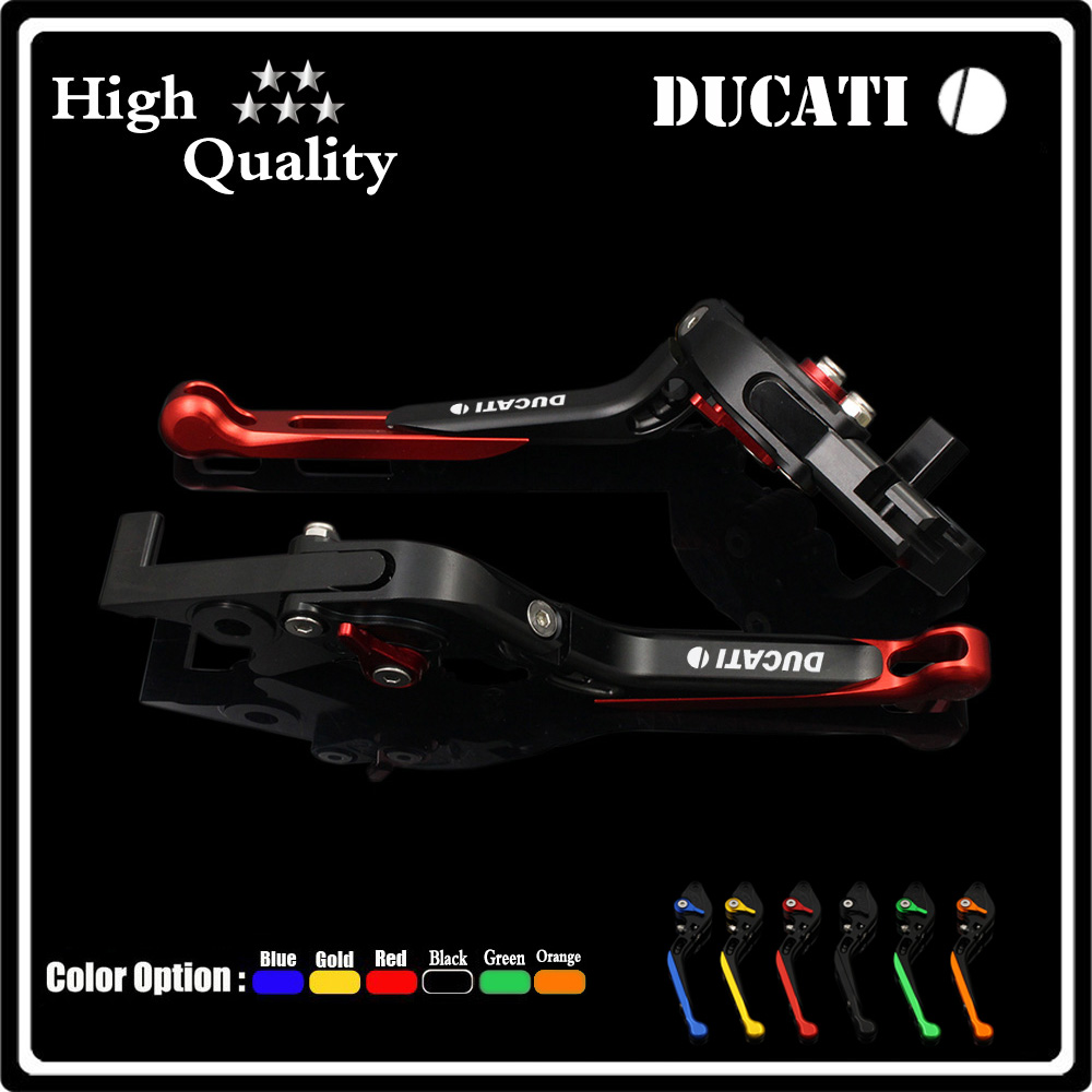 ФОТО 2016 NEW Two Colors(black and red) Motorcycle Brake Clutch Levers For DUCATI 1098 1198 1199 899 Panigale Accessories