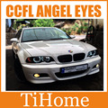 Free Shipping E46 sedan or coupe CCFL angel eyes kit 131 and 146 mm rings(2big rings +2small rings),CCFL car eyes for BMW E46