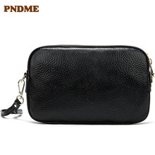 Fashionable portable cross body leather bag fashionable womens shoulder pure color retro