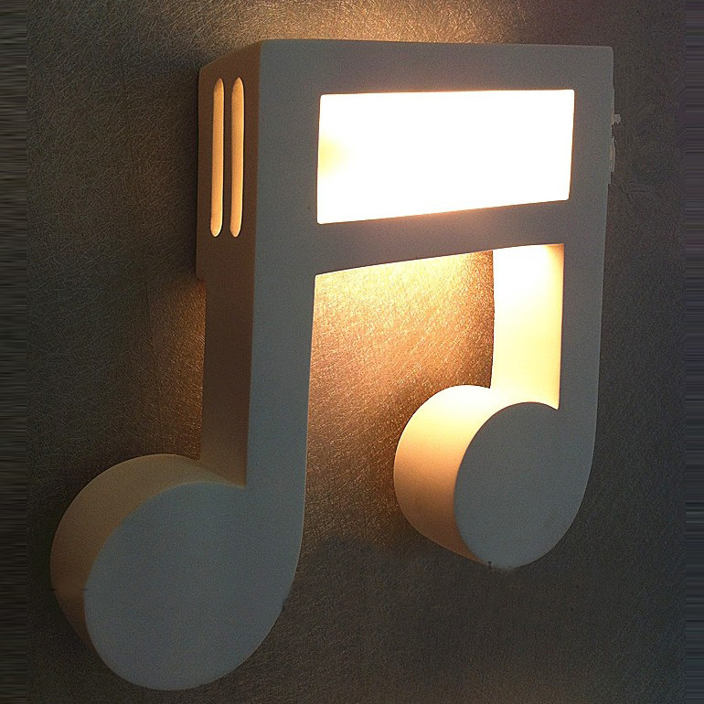 Modern White Gypsum Music Note Corridor Wall Lamp Bedroom Bedsides Balcony  Hallway Wall Sconces Mirror Front Wall Lamps In Wall Lamps From Lights U0026  Lighting ...