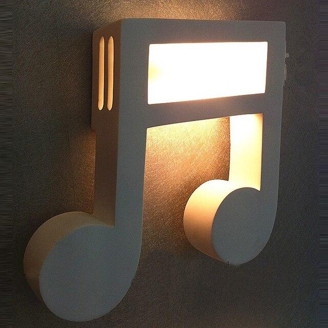 Moderne Weißen Gips Musik hinweis Korridor Wandleuchte Schlafzimmer ...