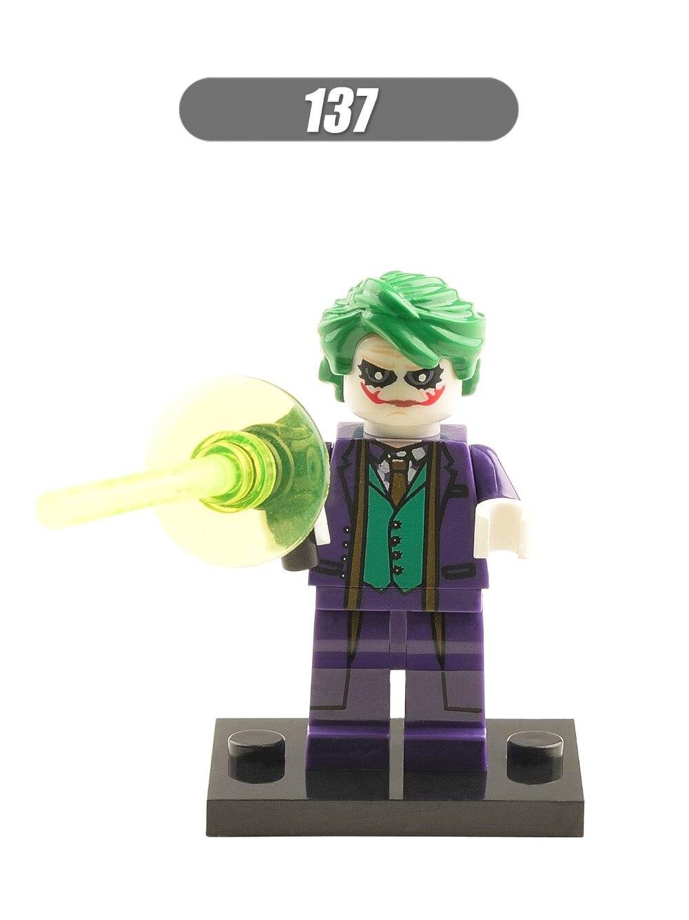 20Pcs Building Blocks Super Heroes Joker Venom Cyclops Doctor Doom Poison Ivy Batman Bricks Assemble Children Gift Toys XH 137