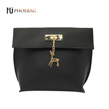 HJPHOEBAG 2017 Fashion women bags Ladies Solid cover Shoulder Bag female PU leather mini flap messenger bag bolsos mujer W-527