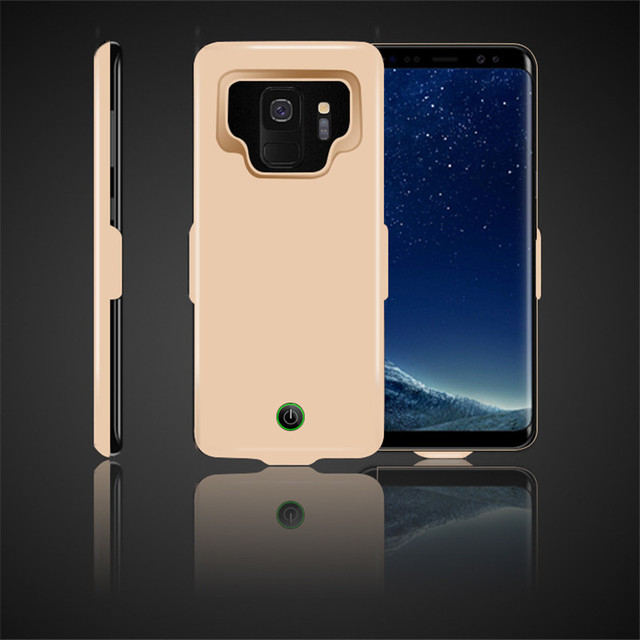 Buffle 7000mAh Rechargeable External Power Bank Charger Pack Backup Battery  Case Cover for Samsung S9 Dropshipping -in Battery Charger Cases from