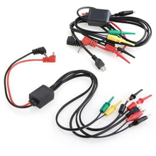 Power Supply 2 Alligator Clips 2 Banana Plugs 4 Hook Clips Test Lead Cable Kit For Mobile Phone