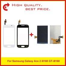 شاشة عرض LCD عالية الجودة 3.8 بوصة لهاتف سامسونج جلاكسي أيس 2 i8160 مع لوحة مستشعر رقمية تعمل باللمس + رمز تتبع
