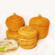 цена на Vietnamese autumn rattan seven-cake tea cans Pu'er tea cake packaging box gift box snack storage box