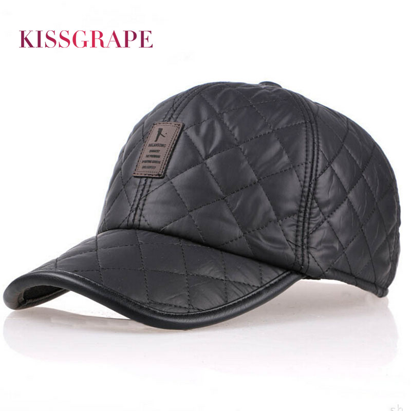 2017 Winter PU Leather Men's Warm Baseball Caps Hats Bone Snapback Caps with Ear Flaps Male Polo Black Dad Darke Caps Outdoor new high quality warm winter baseball cap men brand snapback black solid bone baseball mens winter hats ear flaps free sipping
