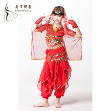 Cheap Performance children girl's Belly Dance costume India Dance Indian Kids Bollywood Costume Kids twk00820