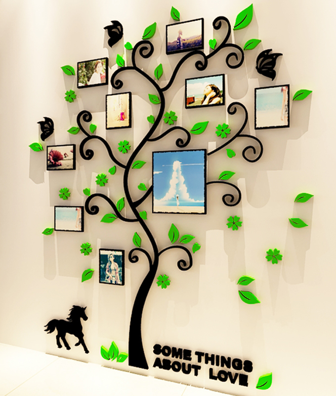 Buy photo frame tree crystal acrylic for Decoration murale wish
