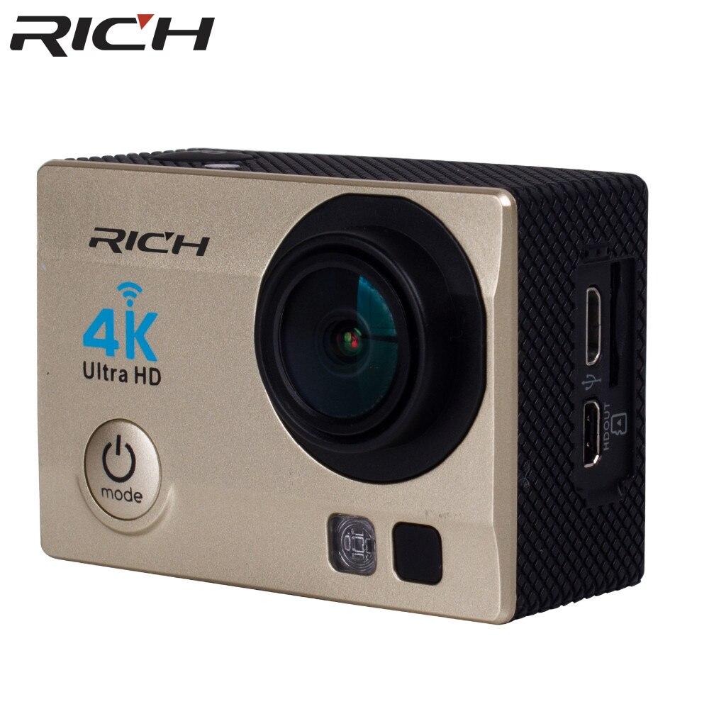 Caméra d'action riche 4 K WiFi 8000 go SJ 2.0 LCD pro 170D caméra étanche sous-marine casque caméra Sport caméra mini vidéo - 3