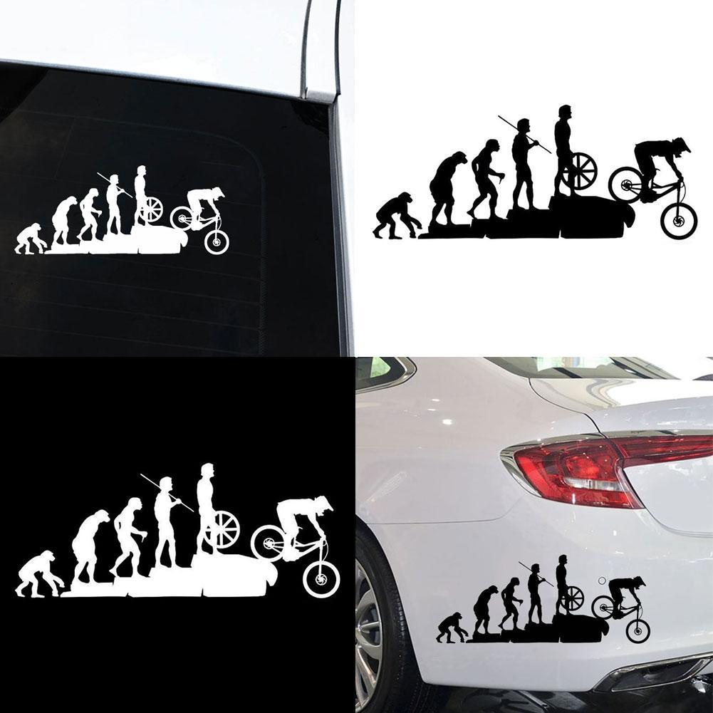 Evolution Mountain Biking Vinyl Decal Decor Sticker